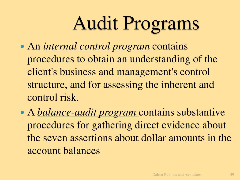 Audit Programs