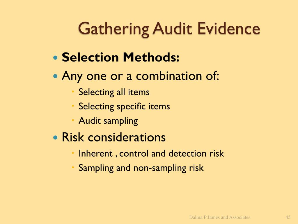 Gathering Audit Evidence