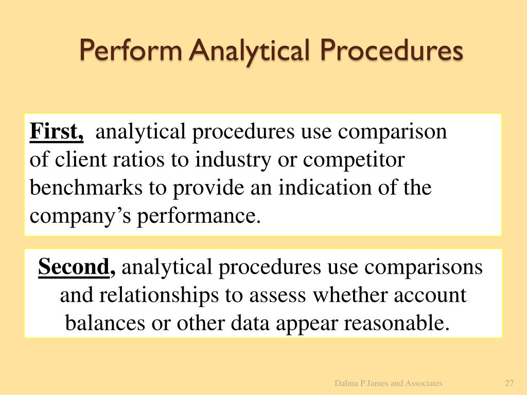 Perform Analytical Procedures