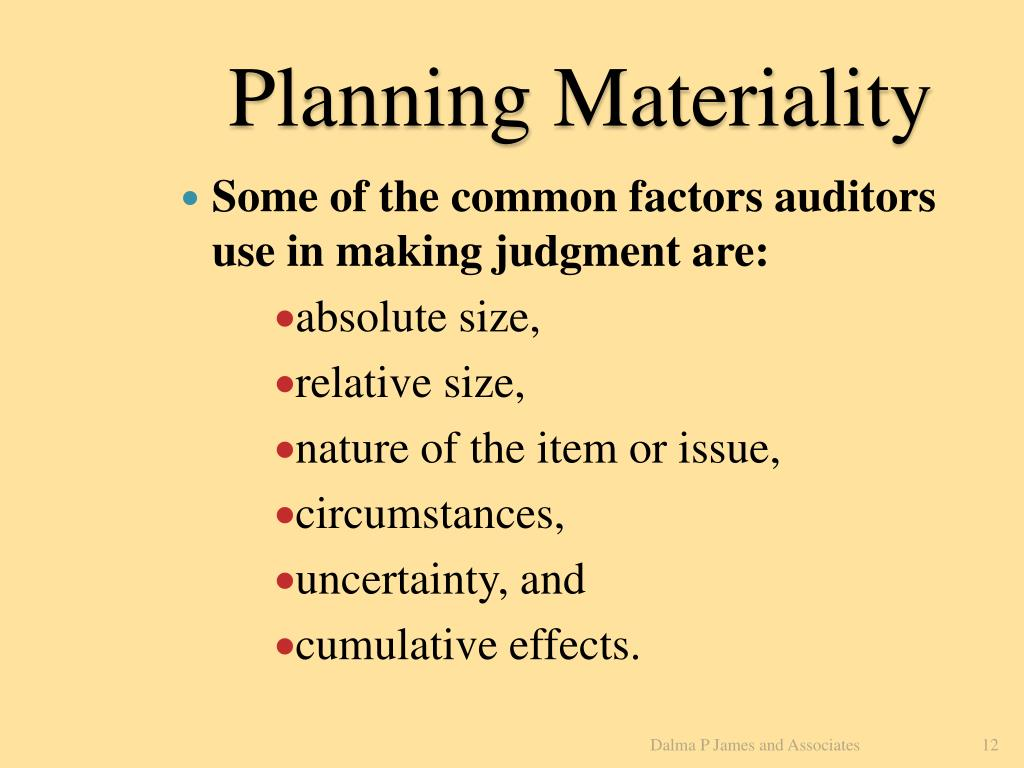 Planning Materiality