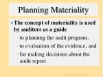 planning materiality13