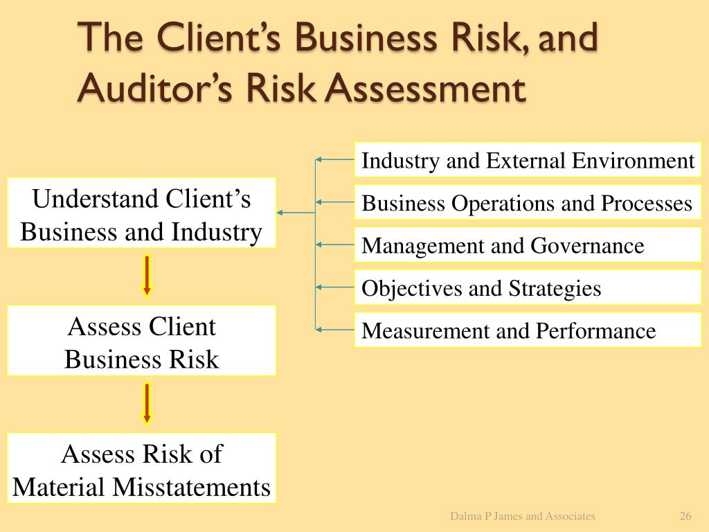 The Client's Business Risk, and