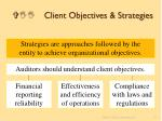 vii client objectives strategies