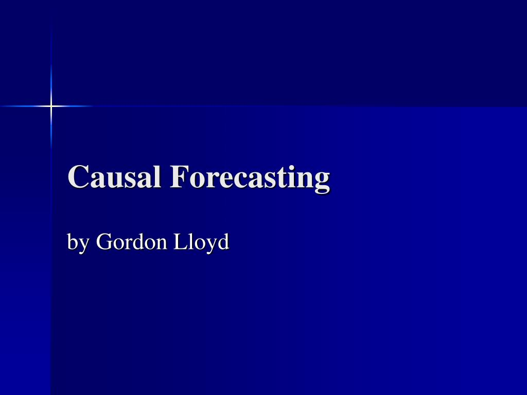 Causal Forecasting