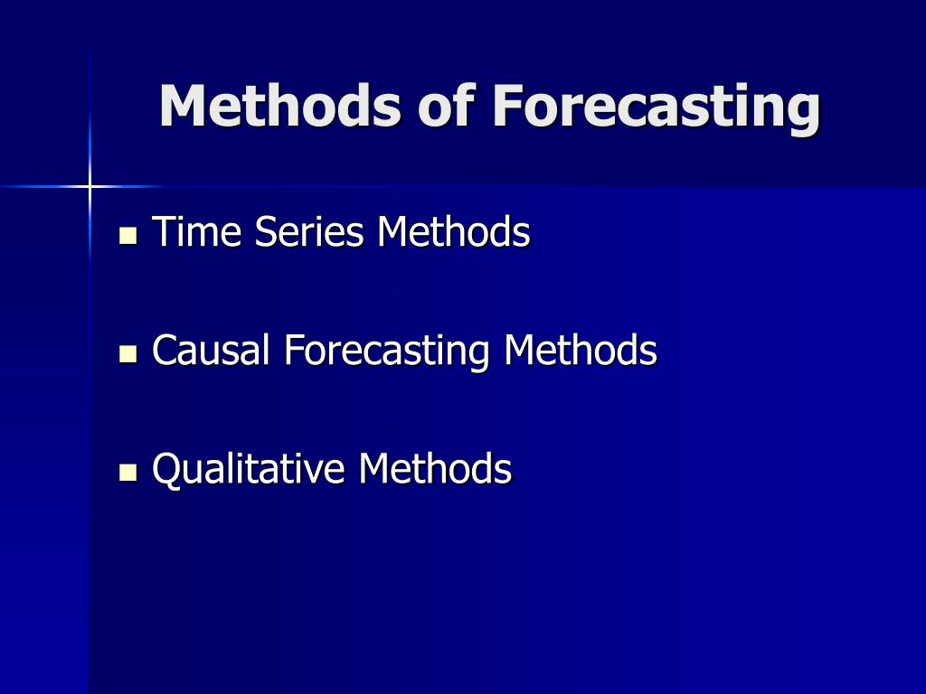 Methods of Forecasting