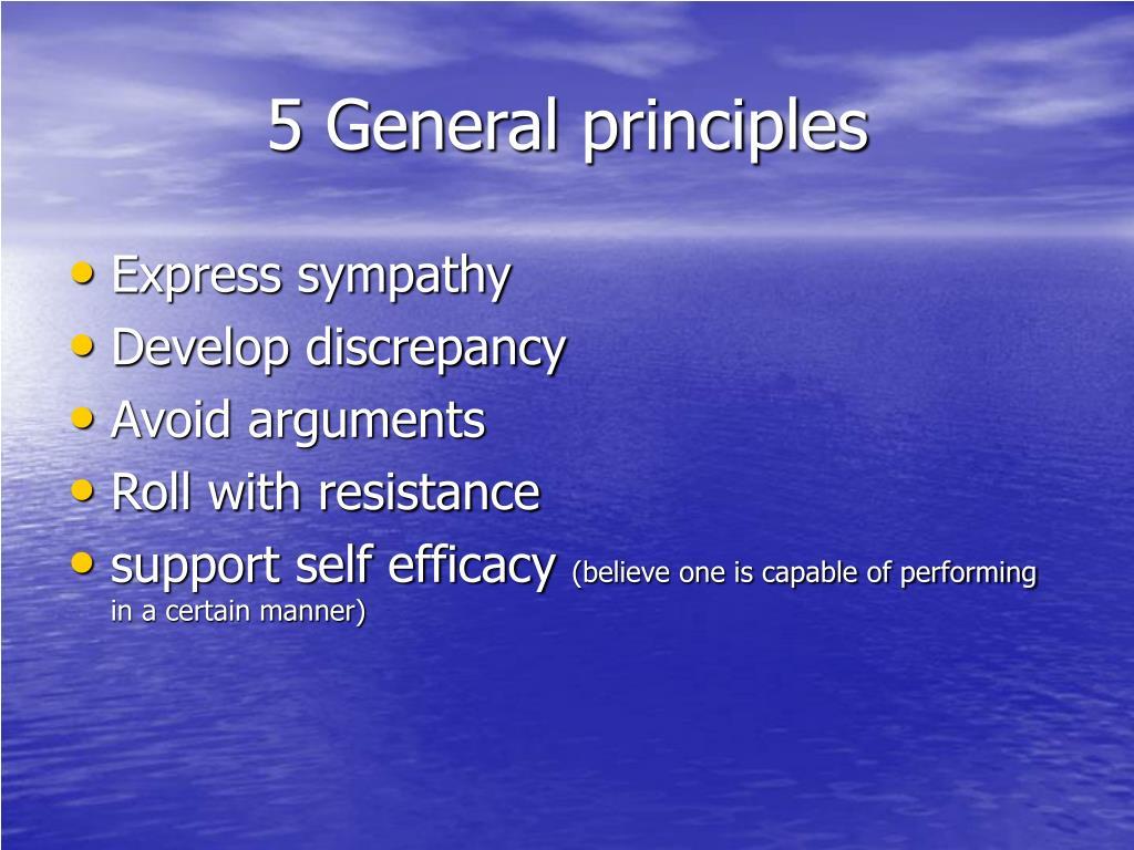 5 General principles
