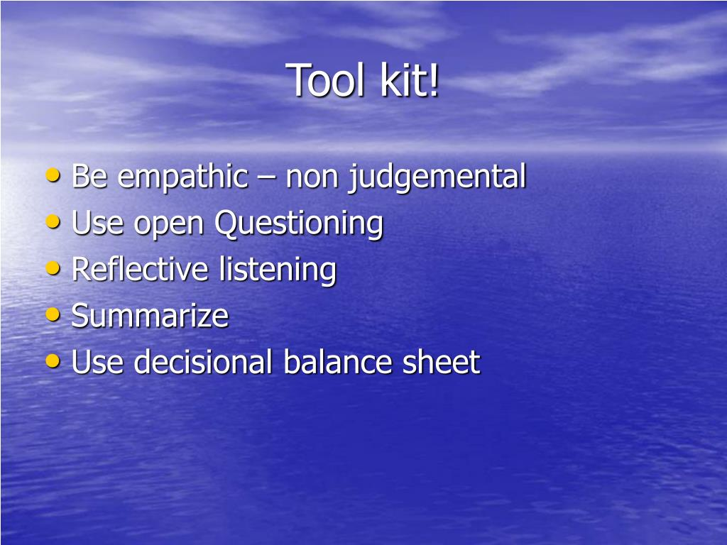 Tool kit!