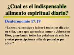 cual es el indispensable alimento espiritual diario