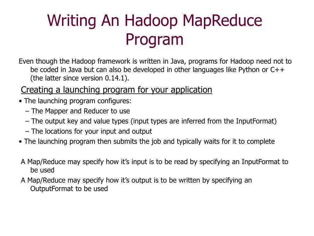 Writing An Hadoop MapReduce Program