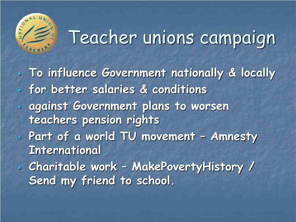 Teacher unions campaign