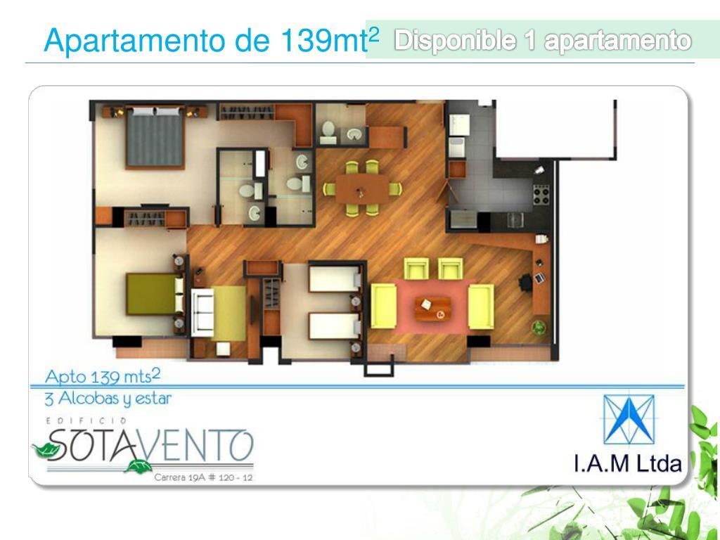 Disponible 1 apartamento