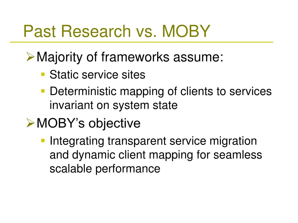 Past Research vs. MOBY