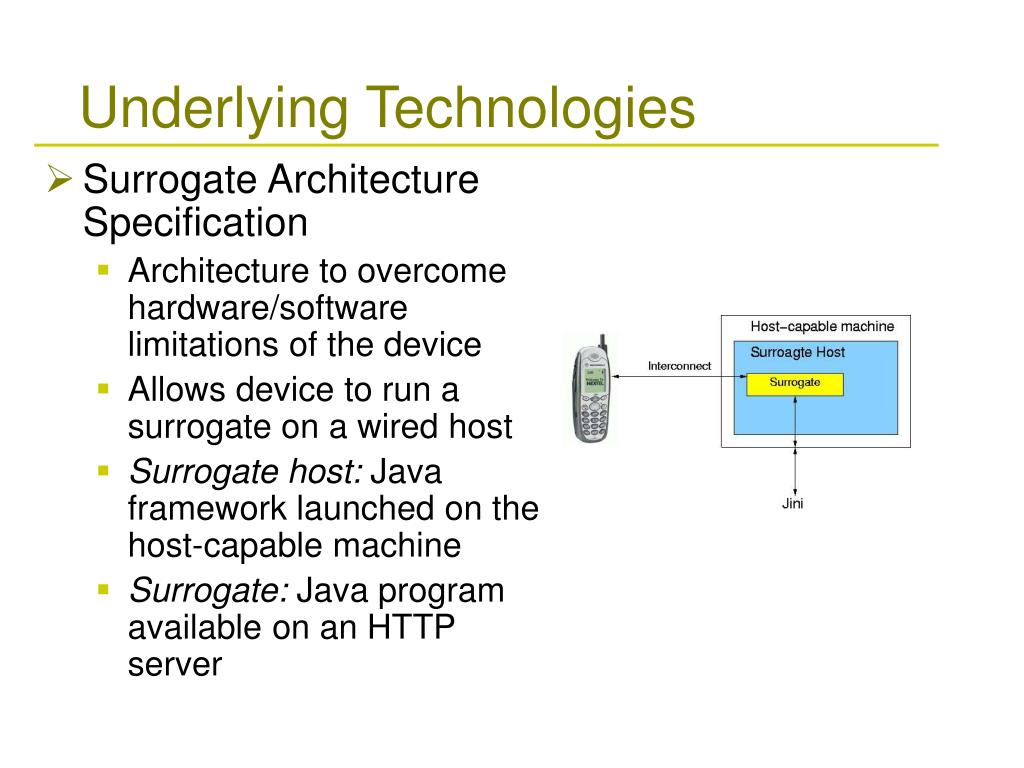 Surrogate Architecture Specification