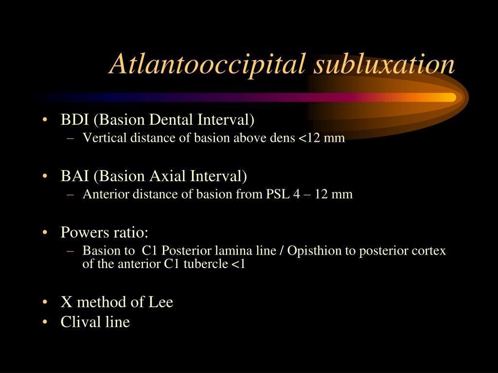 Atlantooccipital subluxation