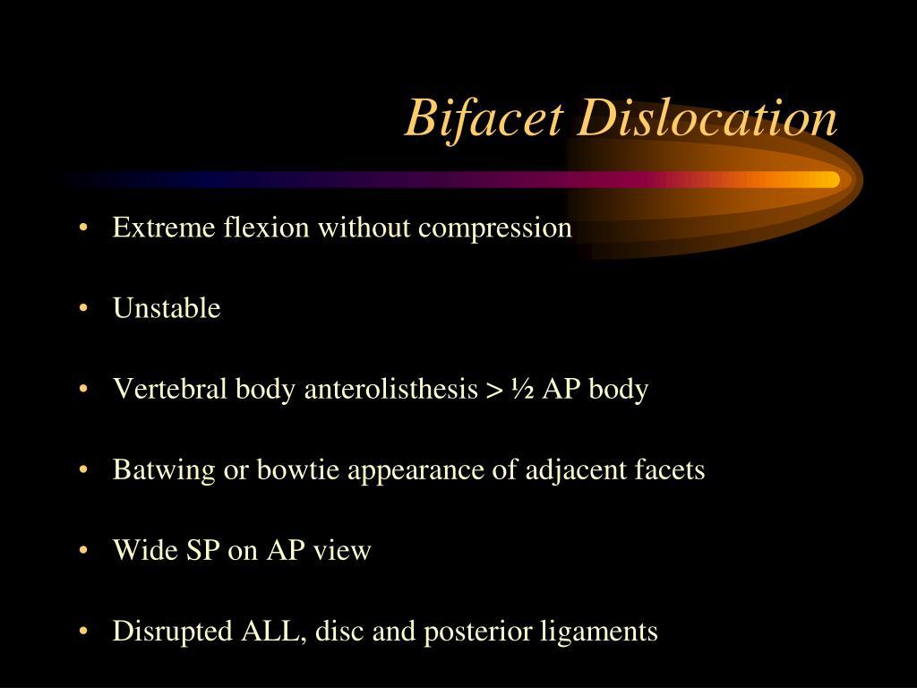 Bifacet Dislocation