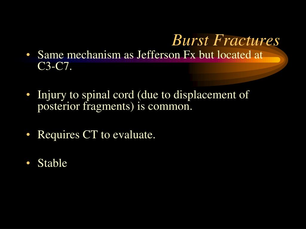 Burst Fractures