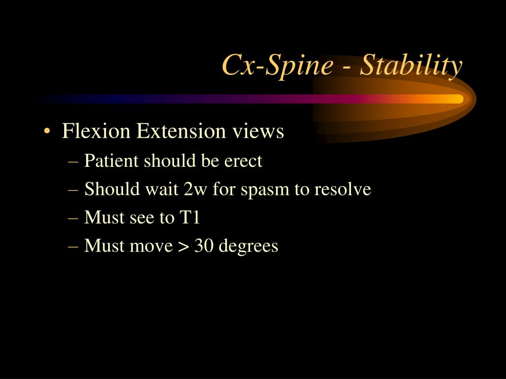 Cx-Spine - Stability