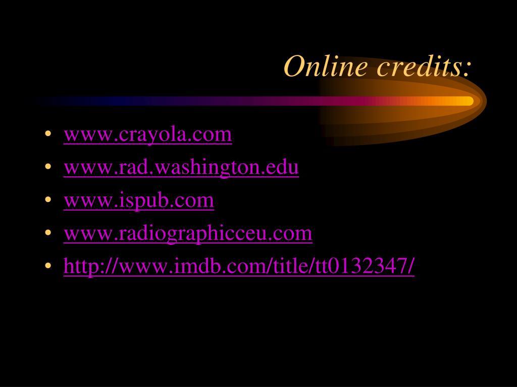 Online credits: