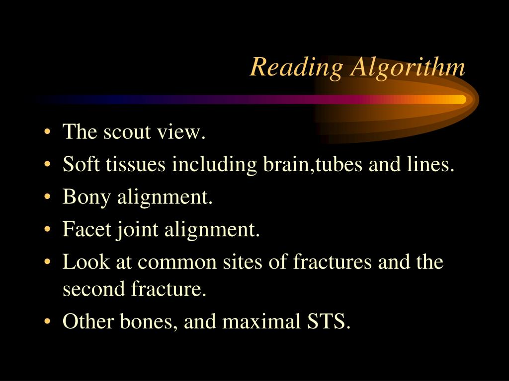 Reading Algorithm