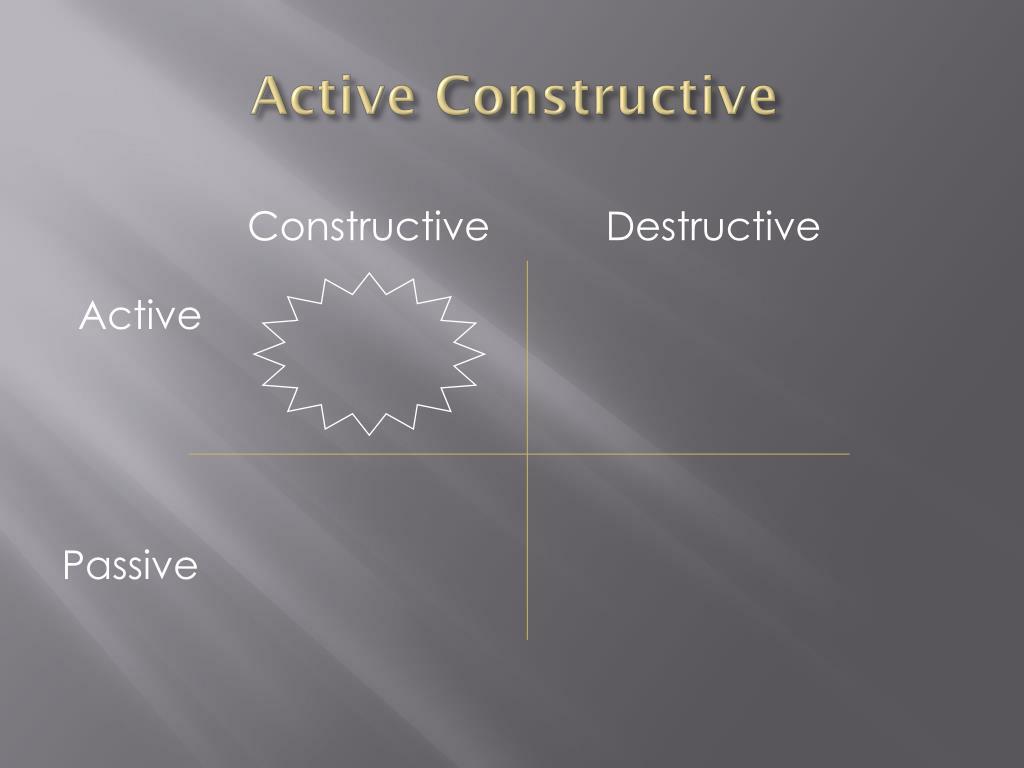 Active Constructive