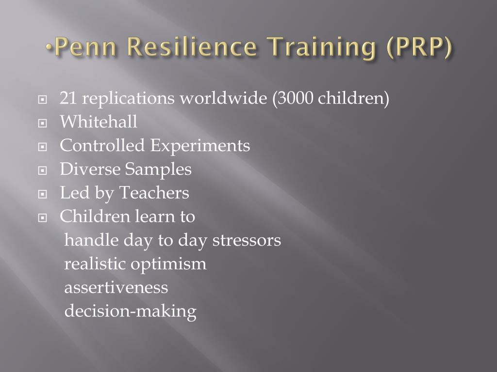 Penn Resilience Training (PRP)