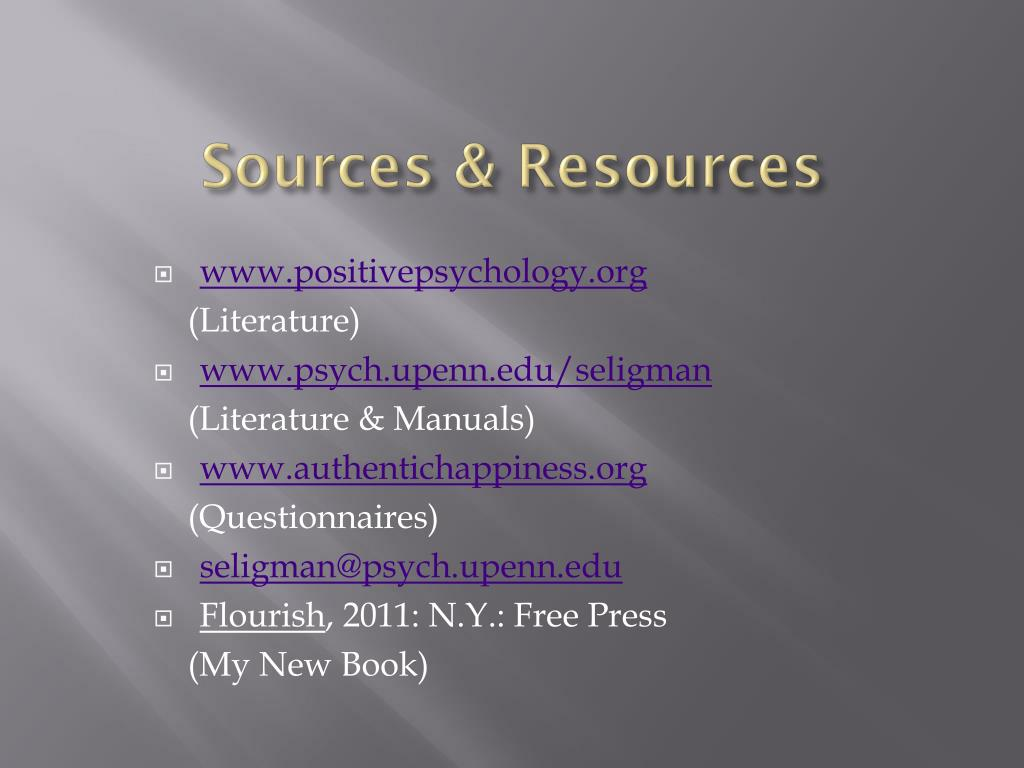 Sources & Resources
