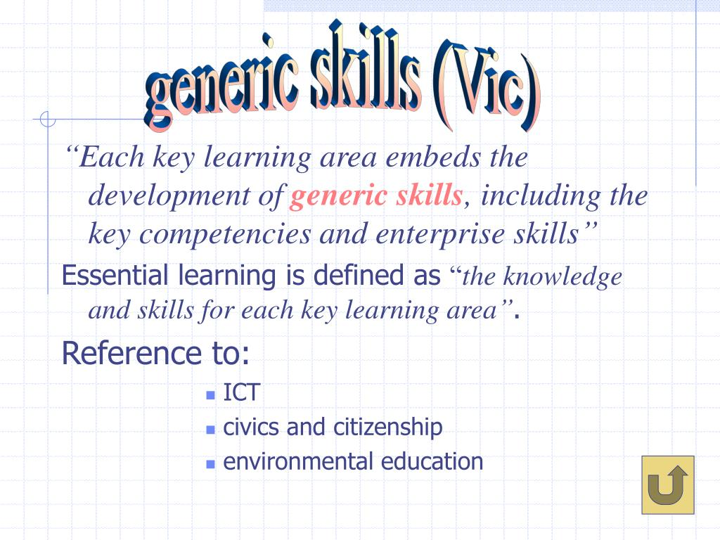 generic skills (Vic)