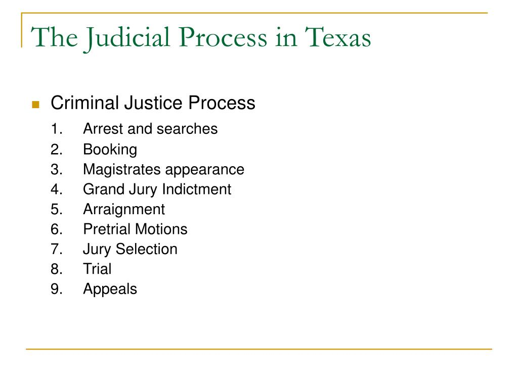 texas court system essay Critical analysis of the criminal justice system print other official within the court system in texas appointed by president bush in 1990 was.