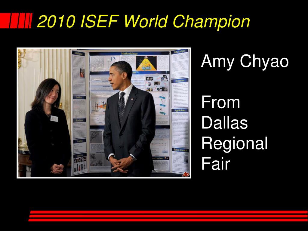 2010 ISEF World Champion