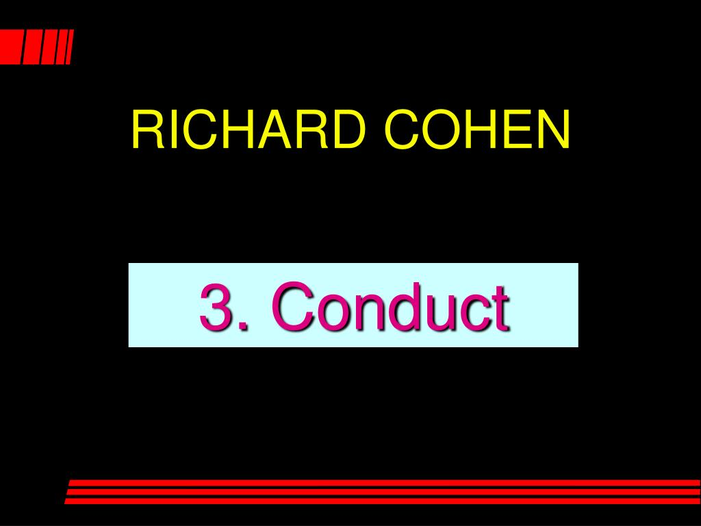 3. Conduct