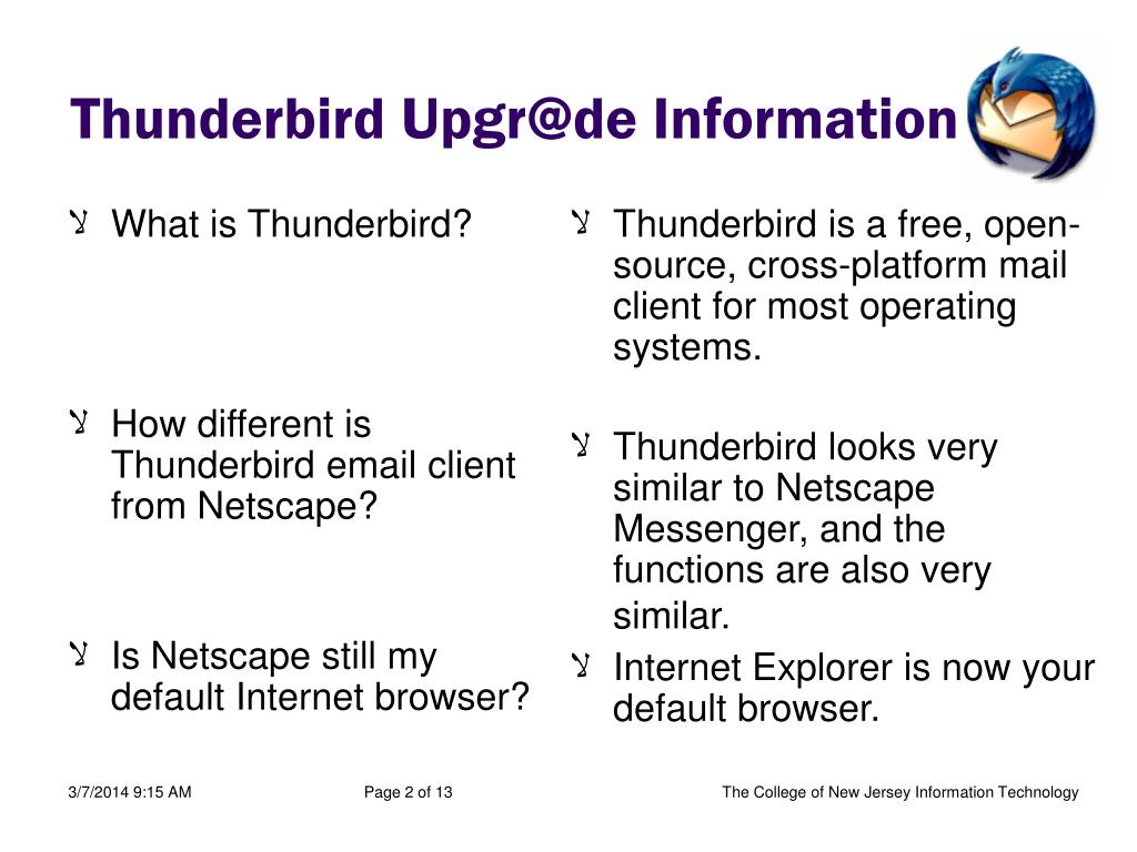 What is Thunderbird?
