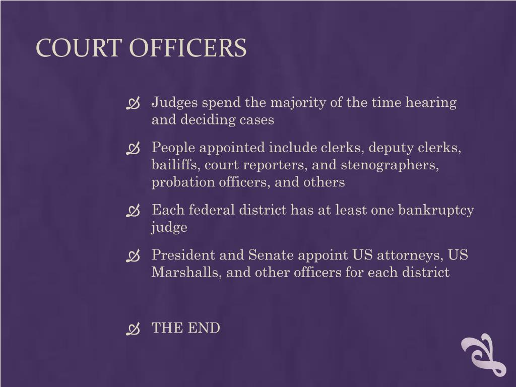 COURT OFFICERS