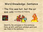 word knowledge sentence7