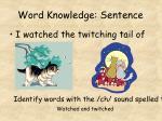 word knowledge sentence8