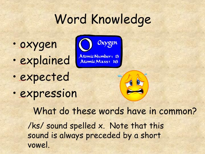 Word knowledge3