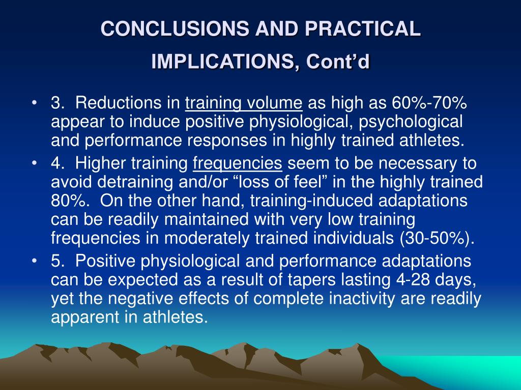 CONCLUSIONS AND PRACTICAL IMPLICATIONS, Cont'd