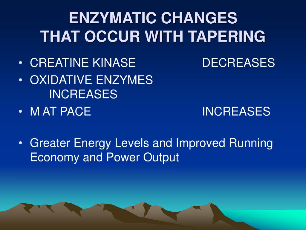 ENZYMATIC CHANGES
