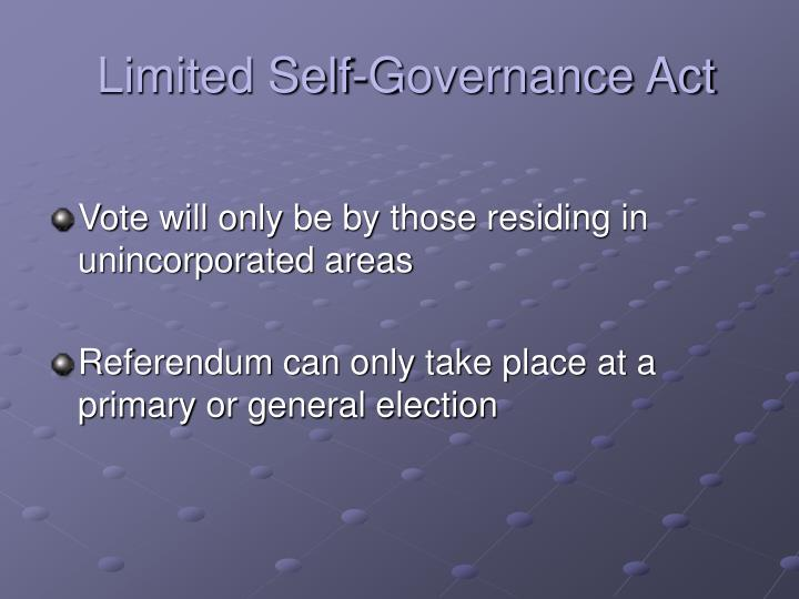 Limited self governance act2