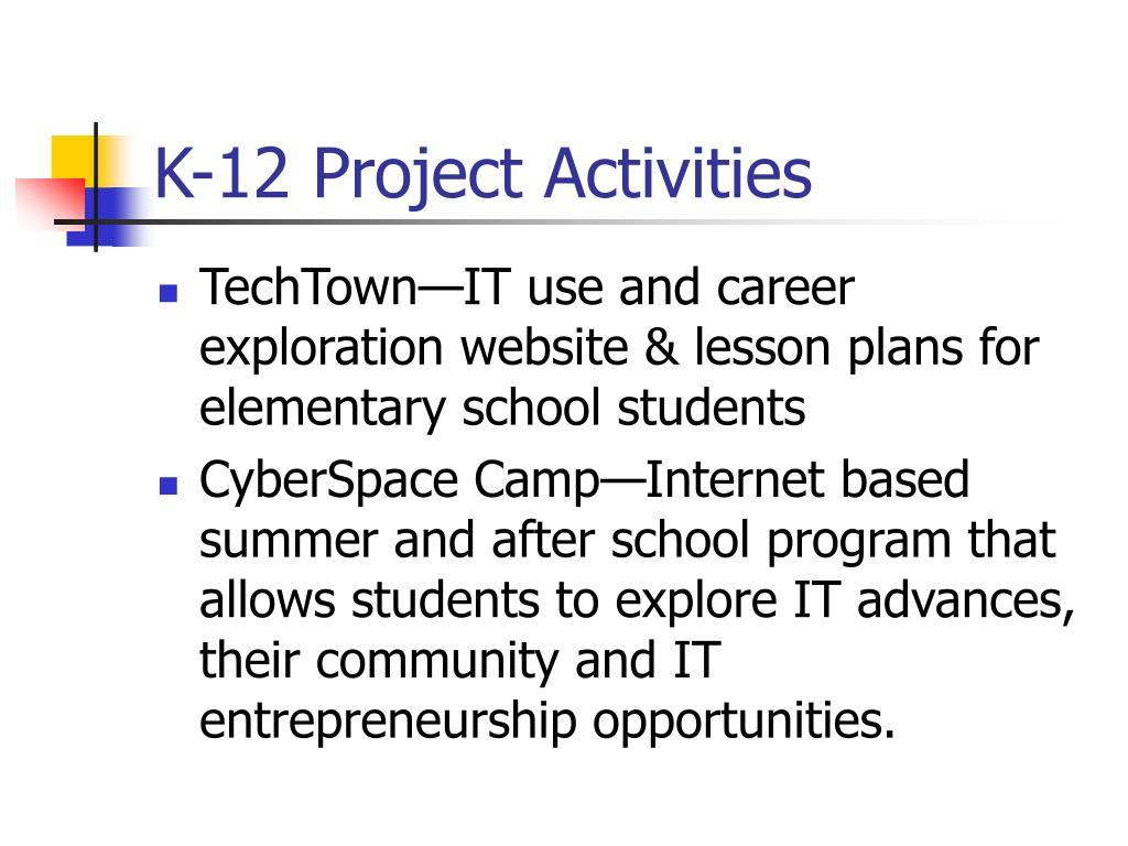 K-12 Project Activities