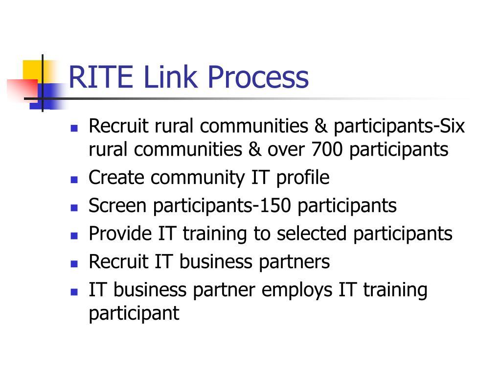 RITE Link Process