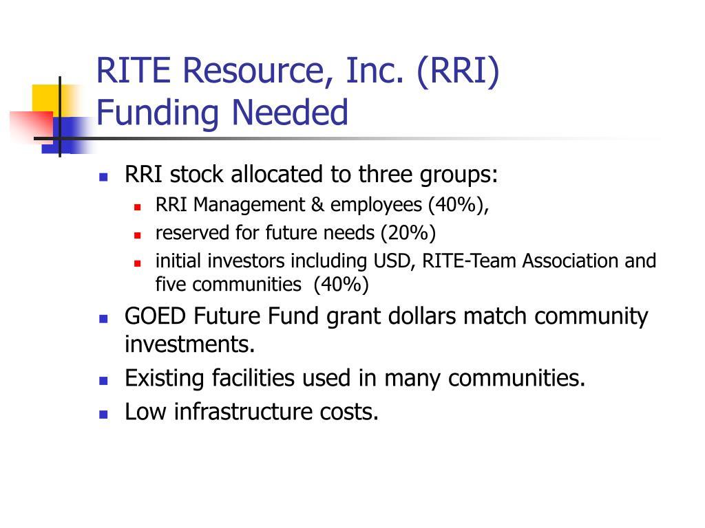 RITE Resource, Inc. (RRI)