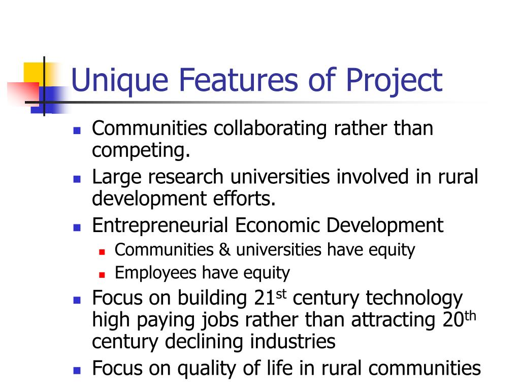 Unique Features of Project