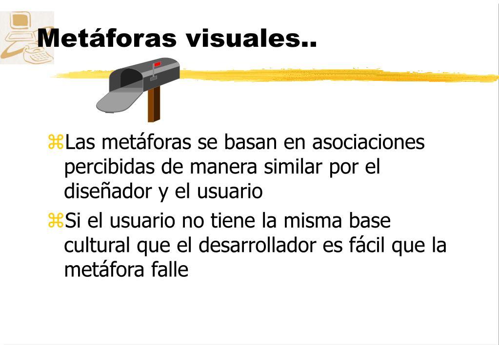 Metáforas visuales..
