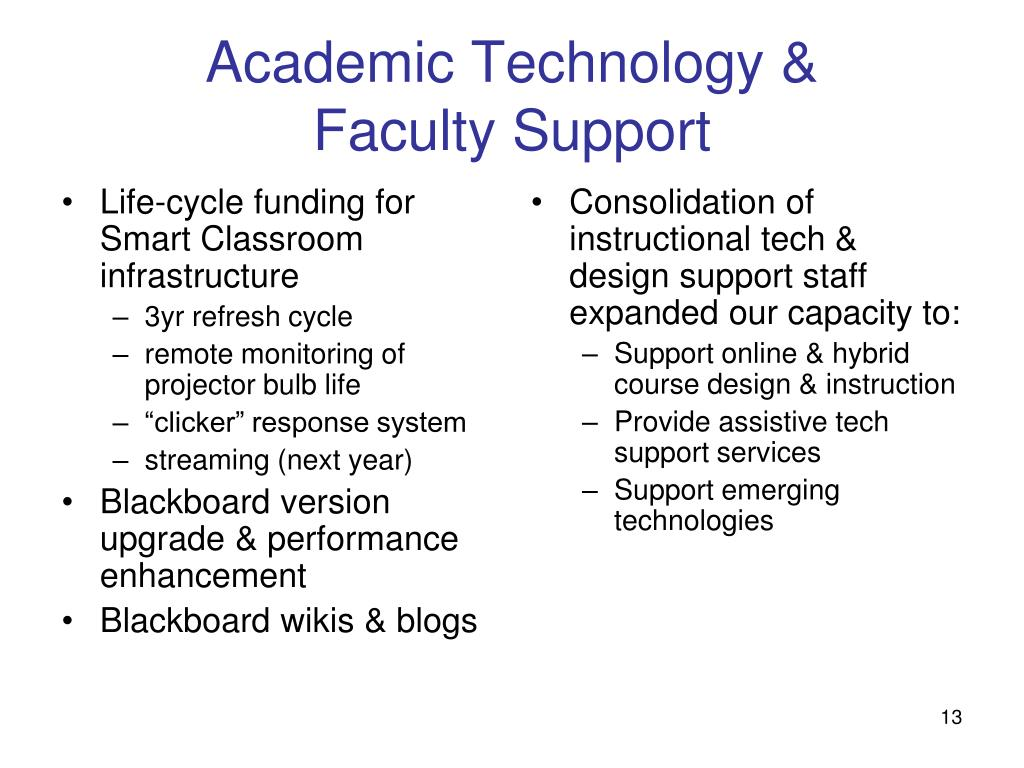 Life-cycle funding for Smart Classroom infrastructure