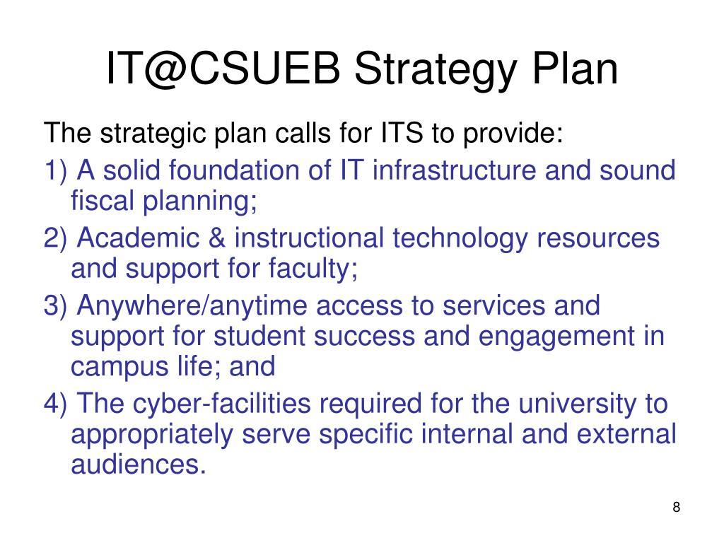 IT@CSUEB Strategy Plan