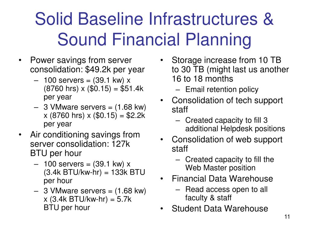 Power savings from server consolidation: $49.2k per year