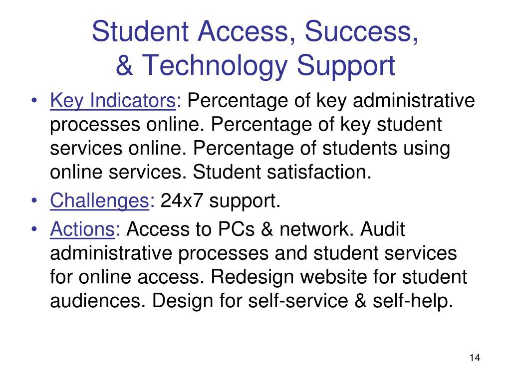 Student Access, Success,