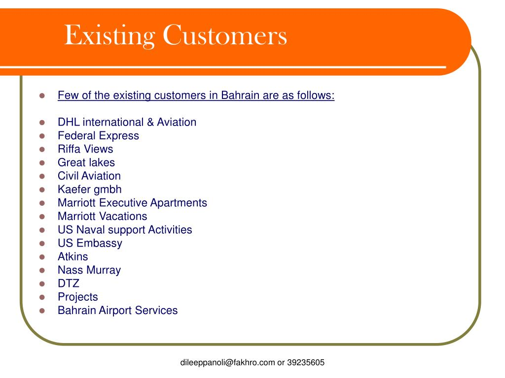 Existing Customers