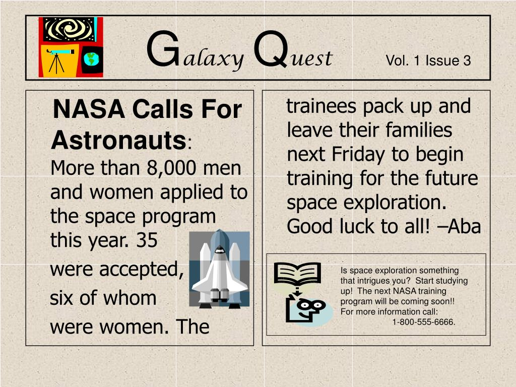 NASA Calls For Astronauts