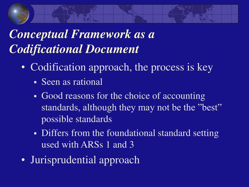 Conceptual Framework as a Codificational Document